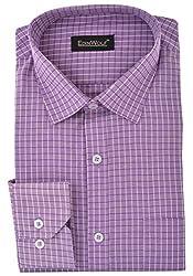 Edinwolf Men's Formal Shirt (EDFR701_42, Purple, 42)