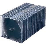 サンワサプライ 1枚収納×50 スリムBD DVD CDケース クリアブラック FCD-PU50BK