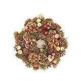 彩か SAIKA リース S ナチュラル インテリア用 玄関飾り スタンダード シンプル CXO-194Sn Wreath-Bloom pinecone S Natural