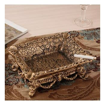 ashtray outdoor stand vintage smokeless tray antique cool unique Ceramics Gold Footed Rectangle