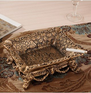 ashtray outdoor stand vintage smokeless tray antique cool unique Ceramics Gold Footed Rectangle 0