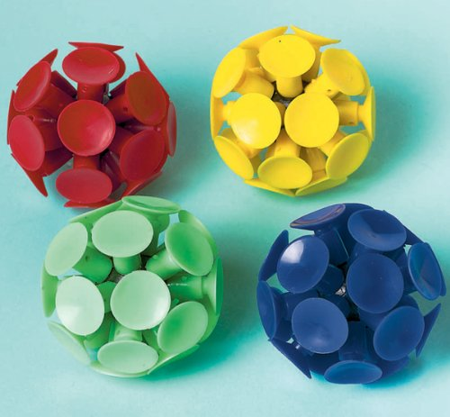 Party Favors 6/Pkg-Suction Cup Ball