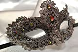 Lace Masquerade Mask Brocade Crystals Venetian Mask Costume Prom Party
