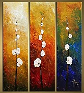 100 hand painted modern abstract oil painting for 3 piece painting ideas