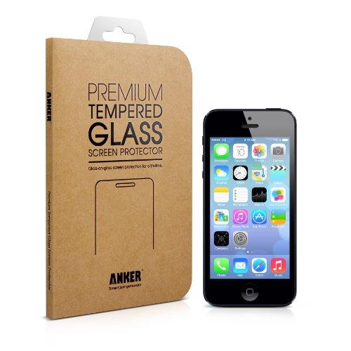 Anker 強化ガラス液晶保護フィルム-iPhone5S / iPhone5C / iPhone5用