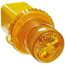 "Jackson Safety 17378 Rotating Strobe With Magnetic Base and Plugs Into Lighter, 4-3/4"" Base Diameter x 7-1/4"" Height, Amber"