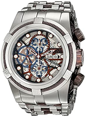 Invicta Men's 12760 Bolt Analog Display Swiss Automatic Silver Watch