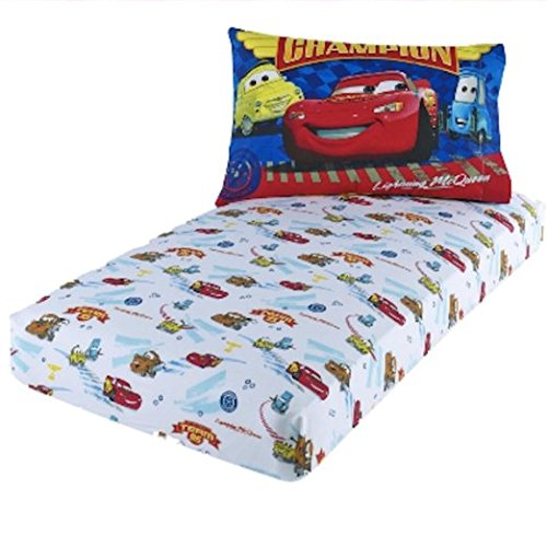 Disney Pixar Cars Lightning McQueen Toddler Sheet Set