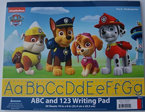 "Paw Patrol ABC and 123 Writing Pad - 30 Sheets - 10"" x 8"" - 1"