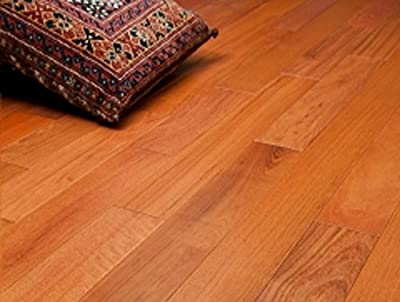 """Brazilian Cherry Prefinished Engineered 5"""" x 1/2"""" Wood Flooring w/3mm Wear Layer Samples at Discount Prices by Hurst Hardwoods"""