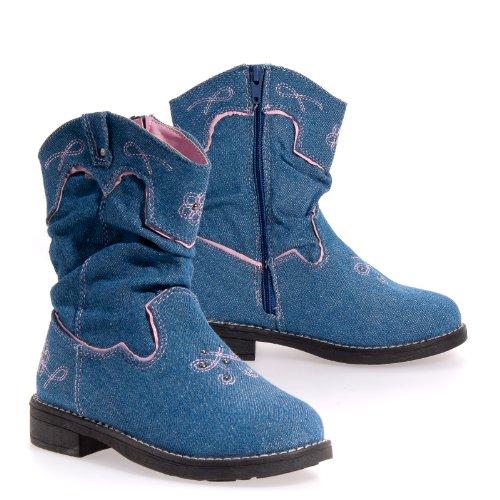Cecila Kids LALA DENIM BOOT Girls Boot Shoes