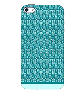 PrintDhaba Skull pattern D-1947 Back Case Cover for APPLE IPHONE 4S (Multi-Coloured)