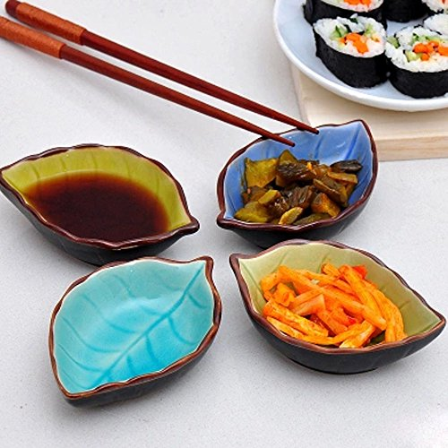 XDOBO® Hand-crafted Beautiful Crackle Glaze Sauce Dishes, all kinds of condiment dishes. Set of 4. (Sauce Beautiful compare prices)