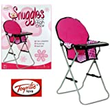 SNUGGLES DELUXE FOLDIND HIGH CHAIR SEAT STOOL DOLL ACCESSORIES PLAY SET TY3442