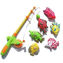 Generic Learning & Education Magnetic Fishing Toy Comes With 6 Fish And A Fishing Rods, Outdoor Fun & Sports Fish...