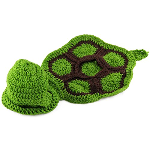 Joy Baby Photography Prop Knit Turtle Crochet Costume
