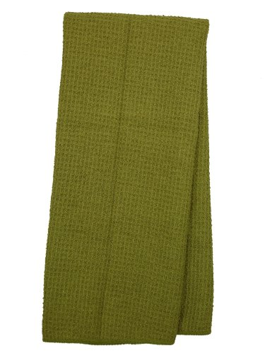 Eurow Microfiber Waffle Weave Kitchen Towel 3 Pack Olive Import It All