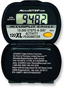 Buy ACCUSPLIT AE120XL Pedometer, Steps Only by ACCUSPLIT