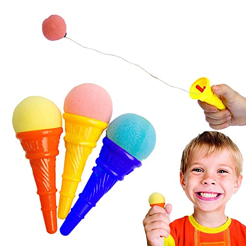 Toy Cubby Colorful Plastic Mini Ice Cream Cone Shooter - 12 Pieces (Ice Cream Cone Plastic compare prices)
