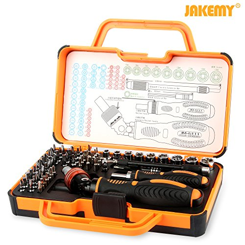 Jakemy JM-6111 69 in 1 Household Double ratchet screwdriver set Household, Mobile, Cellphone, Tablet, Laptop, Electronics (Household Screwdriver compare prices)