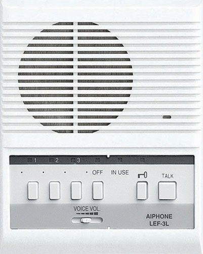 Aiphone Lem-3L Open Voice Selective Call Master Intercom With Door-Release Button, Accepts Up To Three Connecting Door, Sub-Master, Or Master Intercoms front-1049881