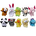 TRIXES 10 Assorted Baby Animal Finger...