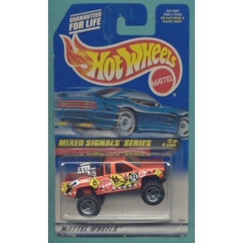 Mattel Hot Wheels 1998 1:64 Scale Mixed Signals Series Orange Nissan Truck Die Cast Car 3/4 - 1