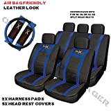 VW Polo Sports Seat Cover Set Blue