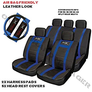 Seat Leon Sports Seat Cover Set Blue