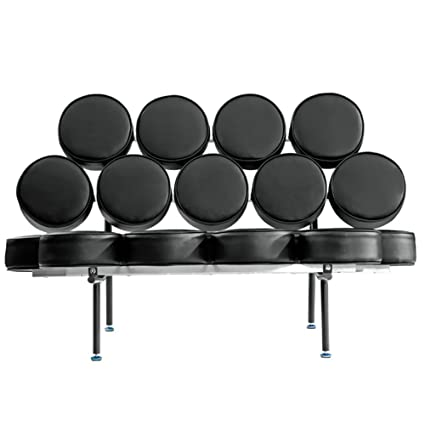 Fine Mod Imports Decorative Furniture Circle Sofa, Black