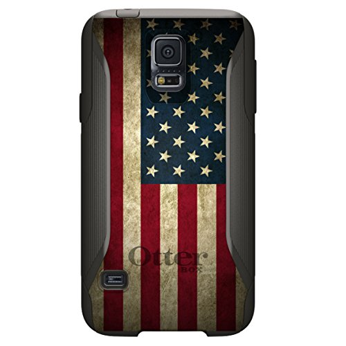 CUSTOM OtterBox Commuter Series Case for Samsung Galaxy S5 - Red White Blue United States Flag Old (Custom Otterbox S5 compare prices)