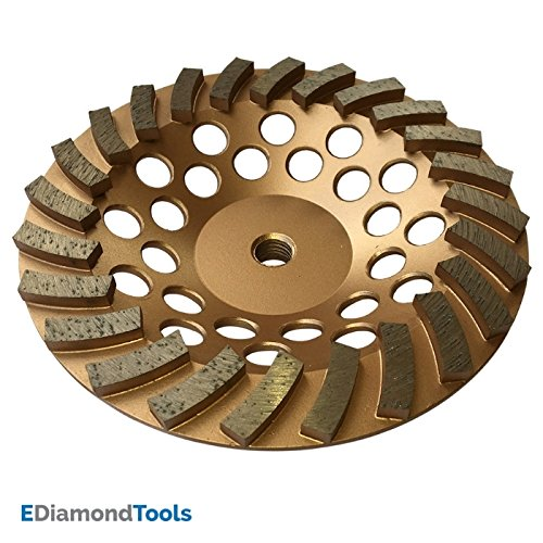 "Grinding Wheels for Concrete and Masonry Available from 4 to 7 Inches - 7"" Diameter 24 Turbo Diamond Segments 5/8""-11 Arbor"