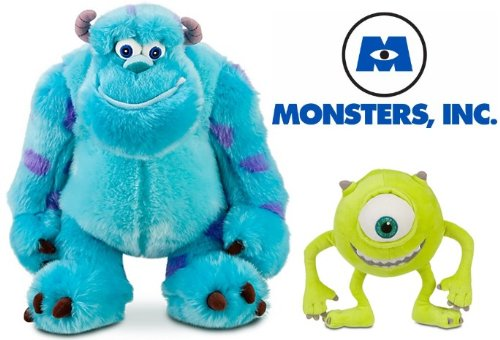 "Disney Store Exclusive Monster'S Inc. Plush Doll Set Featuring 13"" Sully James P. ""Sulley"" Sullivan And 7"" Mike Wazowski Stuffed Animal Toys front-1060257"