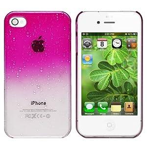 Housse étui Coque Cover Rigide dur Pour iPhone 4 4G S 4S,Style Rose Goutte d'Eau