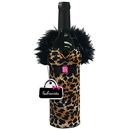 Westland Giftware Fabric Bottle Cover, Babe Fashionista