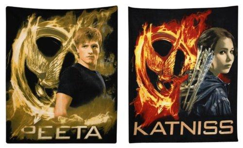 The Hunger Games Movie Polar Fleece Throws - Bundle of 2 - Peeta and Katniss
