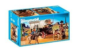 Playmobil - 5248 - Jeu de Construction - Chariot avec Cow-Boys et Bandits
