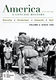 img - for America: A Concise History, Volume 2 book / textbook / text book