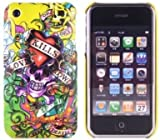 New Yellow Skull Love Kills Slowly Design Ed Hardy Hard Case Back Cover For Iphone 3G 3GS