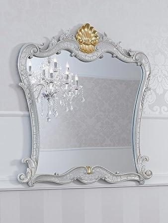 Specchio stile Barocco Veneziano crackle particolari foglia oro