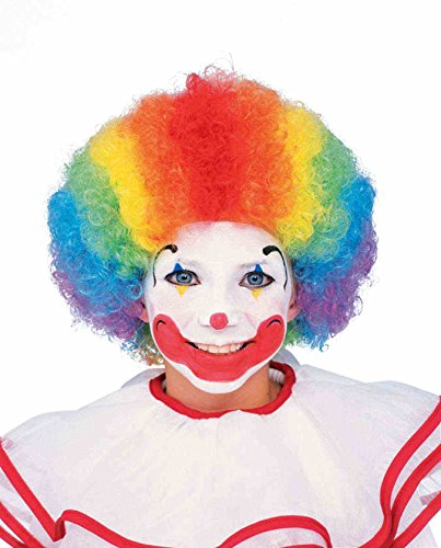 Forum Child Clown Wig, Rainbow - 1