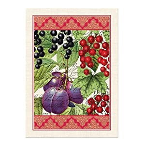 Michel Design Works Woven Cotton Kitchen Towel Currant Dish T