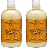 Shea Moisture Raw Shea Butter Moisture Retention Shampoo with Sea Kelp and Argan Oil 13 Oz (Pack of 2)