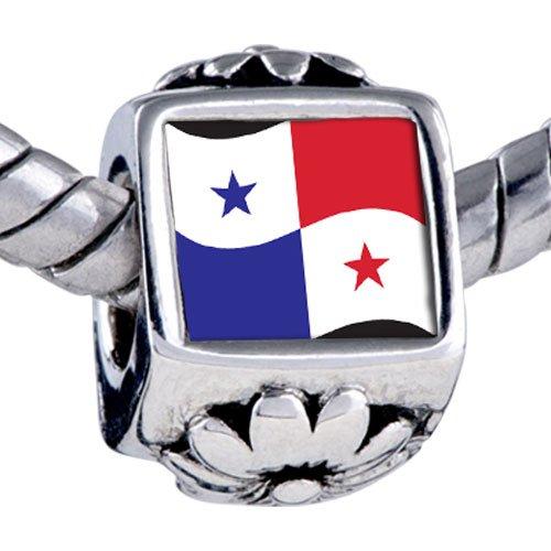 Pugster Bead Panama Flag Beads Fits Pandora Bracelet