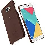Lenuo Premium Back Cover For Samsung A7 (2016)(Brown)(Soft Leather)