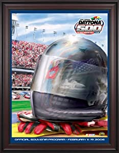 NASCAR Framed 36 x 48 Daytona 500 Program Print Race Year: 48th Annual - 2006 by Mounted Memories