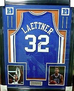 Signed Christian Laettner Jersey - Framed JSA COA W 575590 - Autographed College...