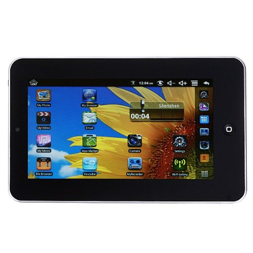 Android 2.2 Tablet PC WiFi 800*480 Camera G-Sensor Touch Screen 7