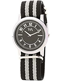 WATCH ME Black Nylon Black Dial Watch For Men Black Nylon Black Dial Watch For Men Watch MeAL-177