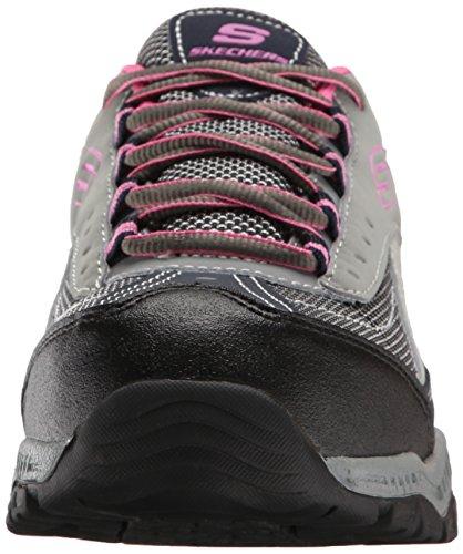 doyline women Skechers doyline women's grey/pink steel toe sr athletic work shoe 76574 sz 75m $4999 free shipping.